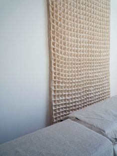 Oversized waffle weave (or honeycomb) textile by Hiroko Takeda. Weaving Textiles, Textile Fabrics, Textile Patterns, Textile Design, Textile Art, Textile Texture, Braids With Weave, Wood Stone, Fabric Manipulation
