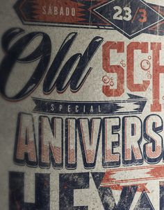 ANIVERSARIO HEY HO + OLD SCHOOL BAR by Overloaded design, via Behance