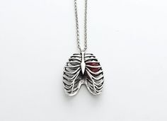 """hayashiwylona: """"Anatomical Rib Cage with Heart Necklace Get it now at here Enter WYLONA1 for 10% discount on any purchases now!"""""""