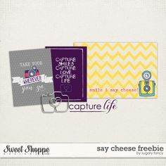 Quality DigiScrap Freebies: Say Cheese freebie from Sugary Fancy