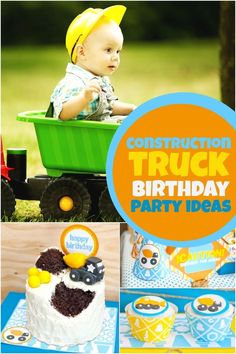 Surprise your little builder with these Construction Truck Birthday Party Ideas!