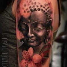 Done with @killerinktattoo , @hustlebutterdeluxe & @fusion_ink  #buddha #bouddha #buddhatattoo #tats #tattoo #realistictattoo #ink #instattoo #fusionink #killerink #hustlebutterdeluxe #overkamecollective #overkame #cheyennehawk #yamatattoo