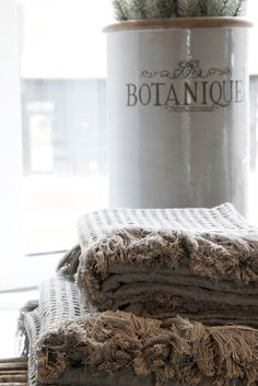 Lene Bjerre - AUTUMN 2013.  MOLISE WAFFEL towels.