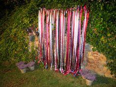 photocall cintas de colores