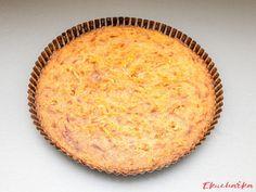 """Bramborákový koláč: """"Bramborákový koláč si připravujeme jako chuťovku ale častěji jako méně tradiční přílohu k pečenému nebo dušenému masu. Není olejový jako při smažení ..."""" Dairy, Menu, Cheese, Food, Menu Board Design, Essen, Meals, Yemek, Eten"""