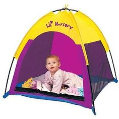 Baby Tent! For play or nap- keeps the hot sun from burning precious soft skin!