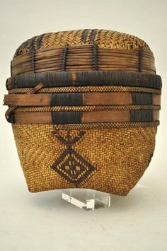 Africa   Basket from the Baluba or Batempa people of Kasai District, DR Congo   Fiber