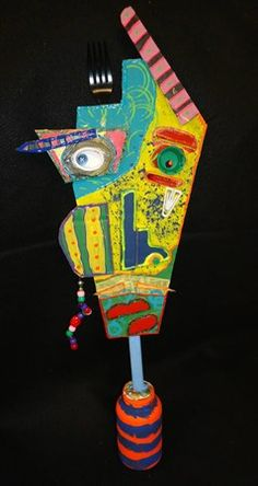 SILAS49's art on Artsonia Picasso inspired cardboard sculpture. Love it!