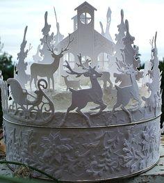 La Città di Carta: Bosco invernale bianco - Weisser Winter wald