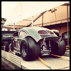 A mighty, meaty beetle. Drag cars rule.