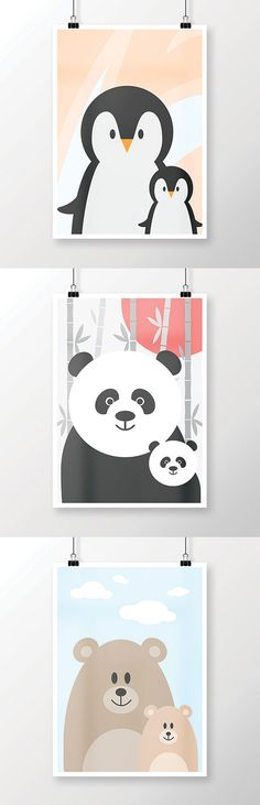 Animal babies posters by Martina Galjan Matkovic