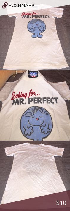Junk food T-shirt LOOKING FOR MR. PERFECT Junkfood brand novelty T-shirt LOOKING FOR MR. PERFECT. Super funny and cute!! Slim fit style, VINTAGE feel, super soft! Never worn! BRAND NEW CONDITION! Size M. Junk Food Tops Tees - Short Sleeve