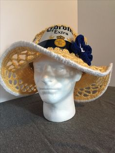 Corona extra beer can hat
