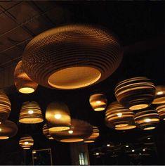 Vintage Rural papier nid d'abeille lampe soutien-gorge pendentif lumières abat-jour papier lanternes pour la maison et la barre design créatif lampe décoration de la boutique en ligne   Aliexpress mobile