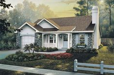 COOL house plans offers a unique variety of professionally designed home plans with floor plans by accredited home designers. Styles include country house plans, colonial, Victorian, European, and ranch. Blueprints for small to luxury home styles. Small Cottage House Plans, Small Cottage Homes, Country House Plans, Small Homes, Plans Architecture, Charming House, Home Design Plans, Ranch Style, Traditional House