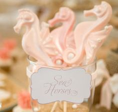 Love how elegant and sophisticated this Mermaid Party was! Love the table runner, cookies and table decor!