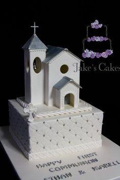Fondant church Holy Communion cake - Cake by Jake's Cakes