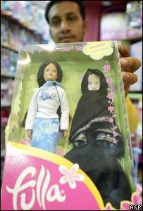 Fulla dolls / Fulla the first doll inspired from the Arabic culture .