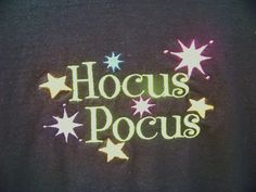 Hocus Pocus Halloween Shirt Halloween is coming!!! Join in the fun with this super cute shirt! This listing is for a black shirt with the
