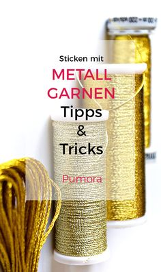 Embroidery with metallic thread - tips and tricks - Pumora hand embroidery with metallic thread . Embroidery with metallic thread – tips and tricks – Pumora hand embroidery with metallic thread Embroidery On Clothes, Silk Ribbon Embroidery, Vintage Embroidery, Embroidery Thread, Embroidery For Beginners, Embroidery Techniques, Machine Embroidery Patterns, Fabric Patterns, Sewing Hacks
