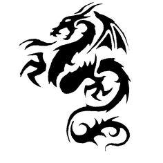 Tribal Dragon tattoo design ideas