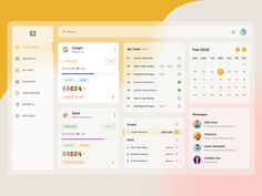 Dashboard Design, Ui Design, Layout Design, Dashboard Ui, Calendar App, Calendar Design, Free Dashboard Templates, Project Management Dashboard, Software Projects