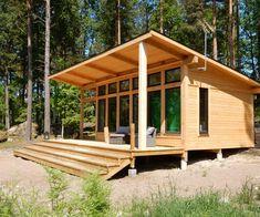 Attefallshus Lindköping I — Swedish Timber Frame Shed Cabin, Cabin House Plans, Tiny House Cabin, Tiny House Plans, Cabin Homes, Cottage Homes, Cabin Kits, Tiny Homes, Shed Roof Design