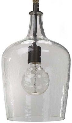 Hammered Glass Pendant - Beach Style - Pendant Lighting - by Regina Andrew Glass Light Fixtures, Blown Glass Pendant Light, Globe Pendant Light, Glass Pendants, Pendant Lights, Beach Style Pendant Lighting, Glass Shades, Kitchen Ideas, Kitchen Decor