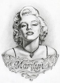 Marilyn Monroe by ShantiCameron.deviantart.com on @deviantART