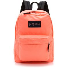 Jansport Classic Superbreak Backpack - Coral Peaches ($35) ❤ liked on Polyvore featuring bags, backpacks, accessories, mochila, jansport bags, zip top bag, backpacks bags, shoulder strap backpack and jansport