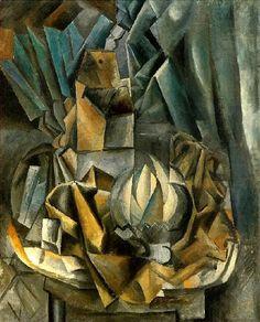 Éventail, boîte de sel et melon 1909. Pablo Picasso (1881-1973)