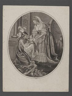 Allegorical picture made to celebrate the birth of Louis Joseph, showing Marie Antoinette handing the Dauphin to France.