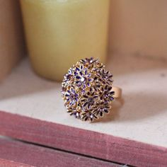Where The Wild Flowers Are Daisy Ring In Purple 21