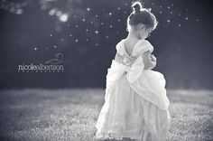 Cinderella girl toddler photography black and white princess dress