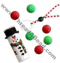Snowman Tube Ornament Bead Pattern By ThreadABead