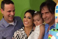 Roberto Carlos no aniversário da neta