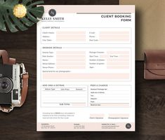 Client Booking Form Template, Photography Order Booking Form for Senior Photographers in Ms Word and - wedding Photoshop Photography, Artistic Photography, Digital Photography, Photography Tips, Editorial Photography, Photography Templates, Abstract Photography, Creative Photography, Family Photography