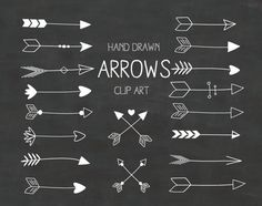 Hand Drawn Arrows Clipart A set of 18. Use by Thelittleclouddd, $3.99 chalkboard clip art