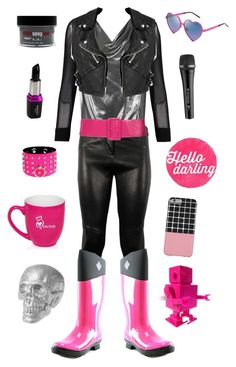 """""""Mettaton-Undertale"""" by conquistadorofsorts ❤ liked on Polyvore featuring Wildfox, Posh Girl, Topshop, Sennheiser, A.L.C., The Original Muck Boot Company, Burberry, Sexy Hair, DENY Designs and GALA"""