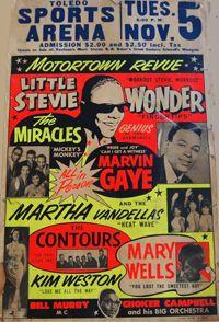 Little Stevie Wonder/Marvin Gaye Motortown Revue Toledo Sports Arena