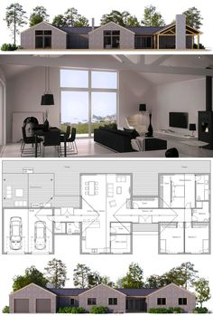 Modern Farmhouse Plans, Home Plans, House Plans, New Homes, Floor Plans Barn House Plans, New House Plans, Dream House Plans, Modern House Plans, House Floor Plans, Modern Farmhouse Plans, Dream House Exterior, Sims House, Home Design Plans