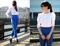 nice look!!      White & Blue (by Tatiana S) http://lookbook.nu/look/4238253-White-Blue