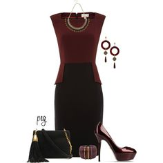 Black and Gold, created by derniers on Polyvore