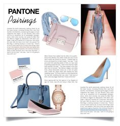 Pantone Pairings by overstock on Polyvore featuring polyvore fashion style Journee Collection Balenciaga Prada Michael Kors Ray-Ban women's clothing women's fashion women female woman misses juniors