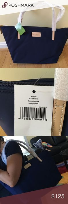 NWT Kate Spade Sophie Kennedy Park Nylon Tote Bag Brand new with tags.  Indigo Blue Nylon bag kate spade Bags Totes