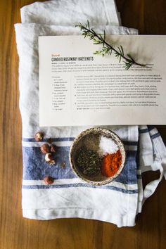 Candied Rosemary Hazlenuts with smoked paprika
