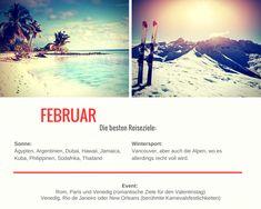 Februar - Die besten Reiseziele