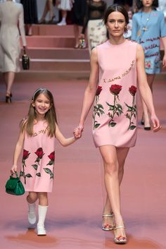 The most emotional show at #mfw was Dolce & Gabbana's #fw15 show. Just look at this mommy- daughter combo!