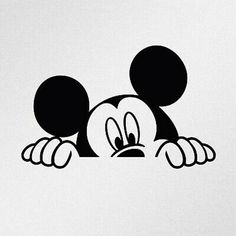 Arte Do Mickey Mouse, Mickey Mouse Drawings, Mickey Mouse Tattoos, Minnie Mouse 1st Birthday, Disney Drawings, Disney Mickey Mouse, Mickey Drawing, Mickey Mouse Stickers, Mickey Mouse Wallpaper Iphone