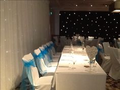 We love our black star cloth! It just looks wonderful with this blue colour scheme